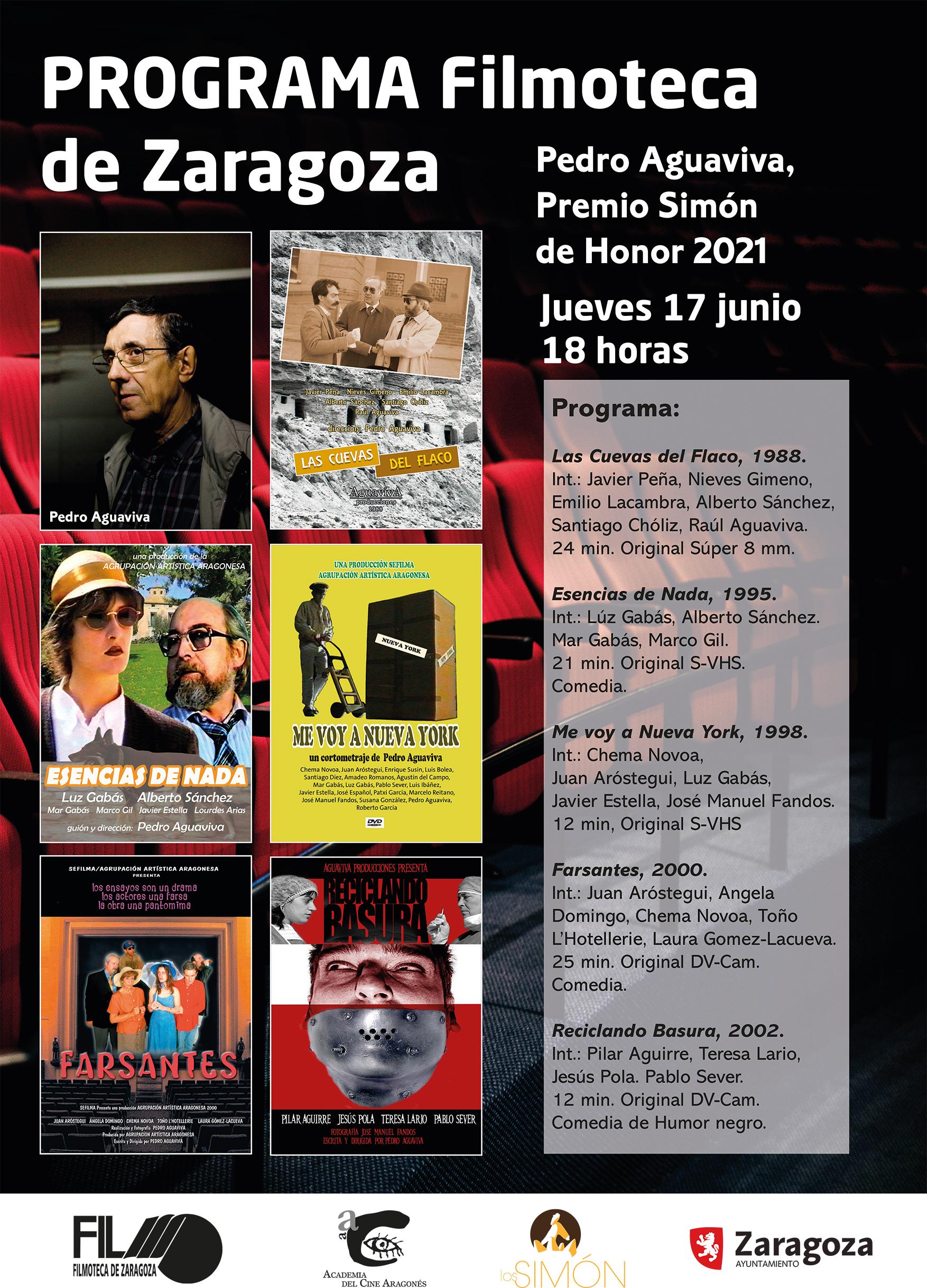 Programa Filmoteca Zaragoza Pedro Aguaviva